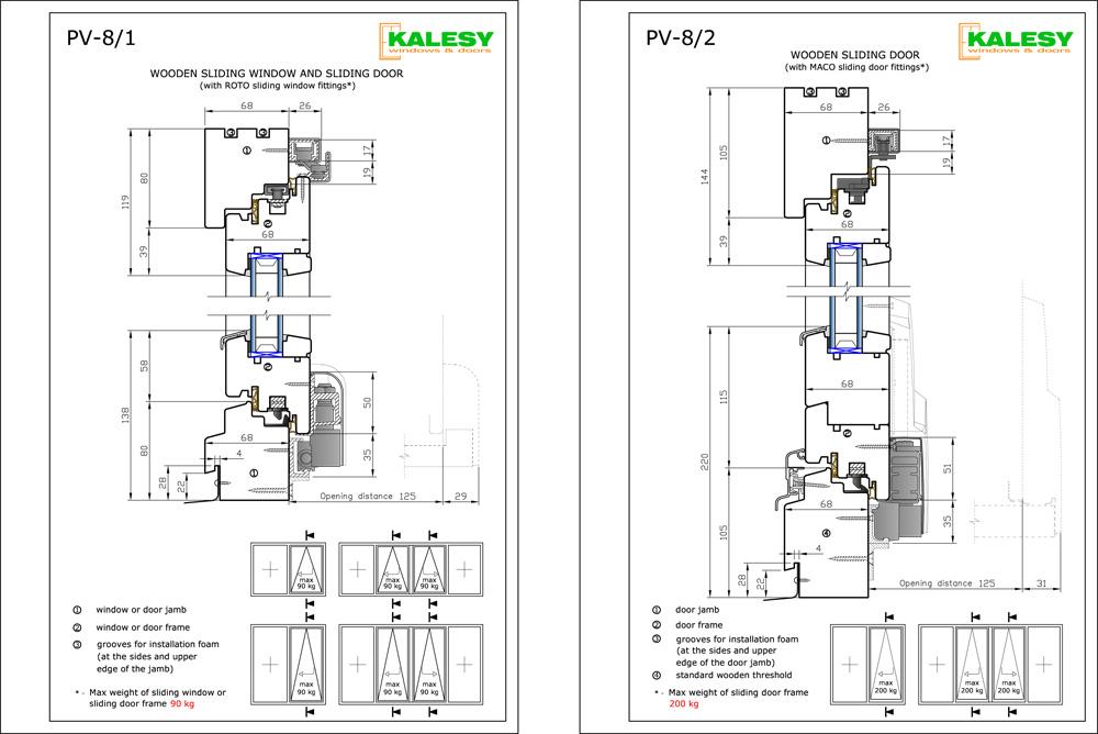 window sliding door alu profile pdf